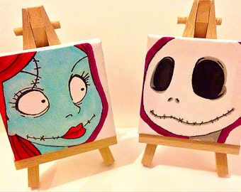 Nightmare before Christmas mini canvases