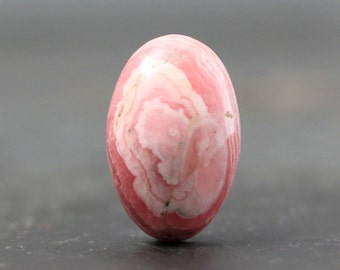 Rhodochrosite Pink Oval, Gemstone, Unique Specimen - Wire Wrapping Pink Stone Cabochon - Tiny, Bezel, Findings, Settings, Bail Pendant