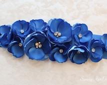Blue Wedding Sash/ CHOOSE YOUR COLOR Sash/ Bridal Ribbon Sash/ Bridesmaids Sash/ Handmade Accessory