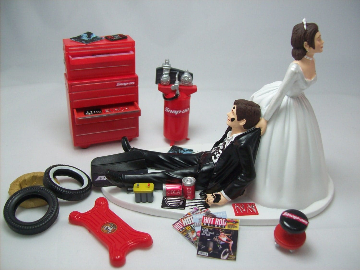 Funny Wedding Cake Topper for Mechanics AUTO MECHANIC Snap