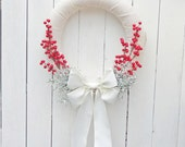 Rustic Christmas wreath, natural Christmas wreath, burlap Christmas wreath, rustic Christmas decor, natural winter door decor, decoration