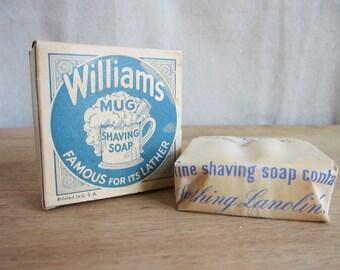 Vintage Shaving, Vintage Advertising, Williams Mug Shaving Soap - Unopened