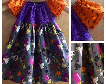 Halloween Peasant Style Dress, size 2t