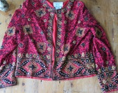 """Vintage SEQUINED Beaded Heavy """"Chaquetilla"""" Trophy Jacket, Size M"""