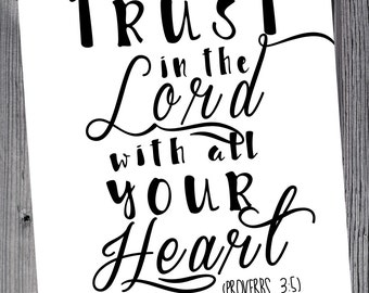 Trust in the Lord 8x10 Printable | DIY