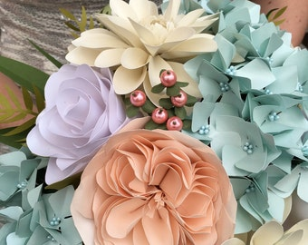 Paper bridal bouquet in 2016 Pantone colours of the year ... Forever flowers
