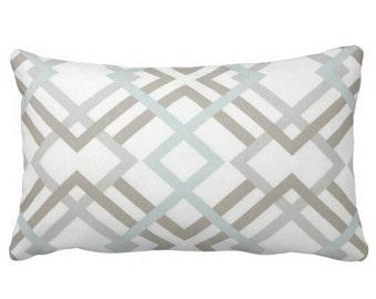 decorative pillows, grey decorative pillows, sage pillows, grey pillow covers, grey pillows, trellis lattice pillow, 12x18 in pillow, lumbar