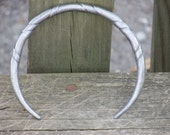 Hand Forged and Counter Twisted Steel Torc or Arm Ring with Custom Finials - Made To Order