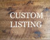 CUSTOM LISTING: Oak Sideboard