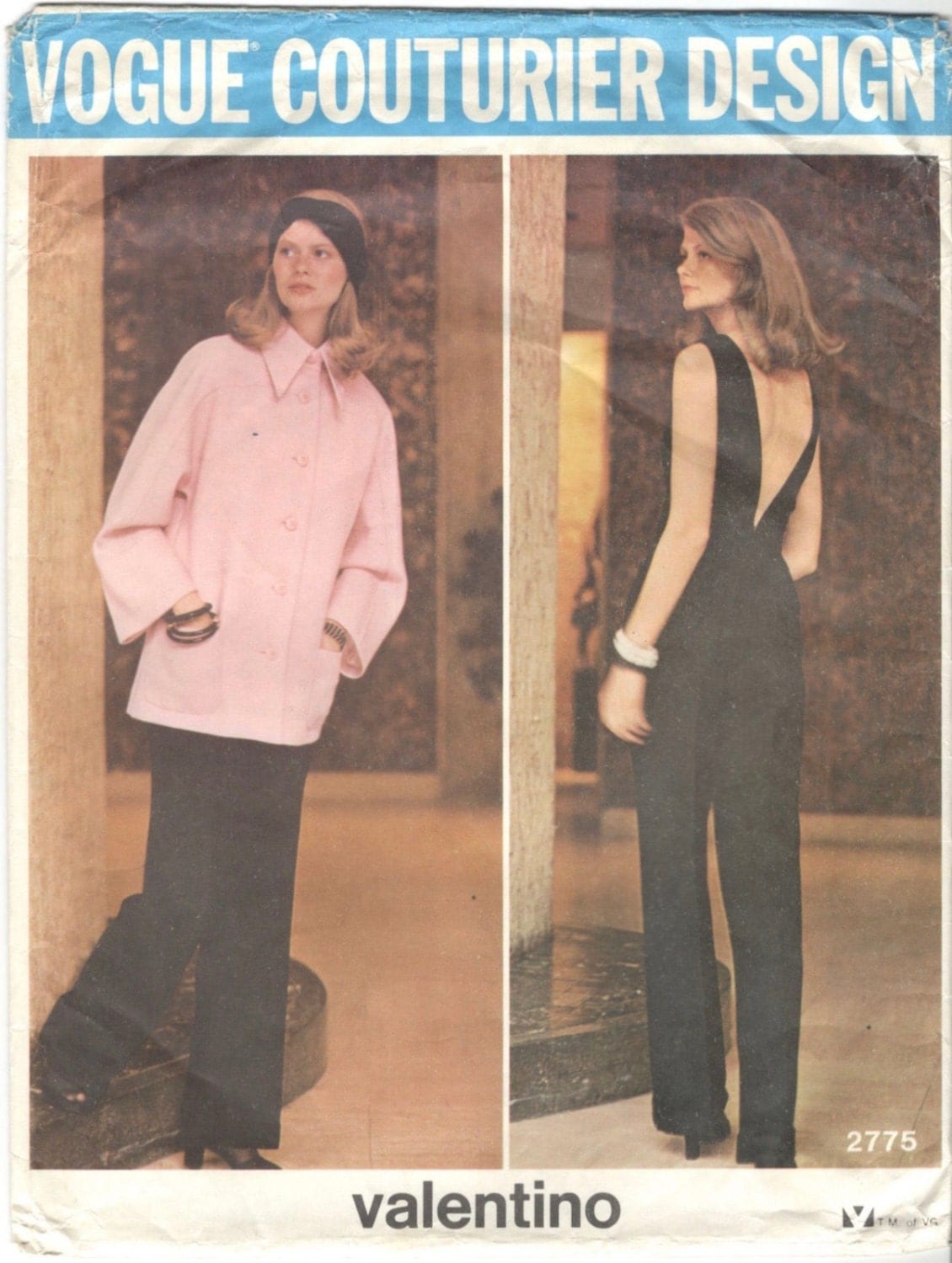 1970s Valentino evening jumpsuit and jacket pattern - Vogue 2775