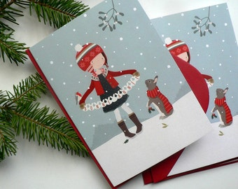 Set of 3 Happy New Year Greeting cards