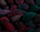 Hand-dyed NZ Merino or Haunui NZ Halfbred combed wool roving (tops) - 100gr Dragon's Breath