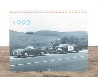 1992 Porsche Calendar / Porsche 356 Car / Porsche Collectible / Retro Porsche Poster / Porsche Decor / Man Cave Car Picture Garage Gift