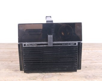 Bell and Howell Slide Projector / Bell & Howell Slide Cube 987 Projector / Slide Projector / Antique Projectors / Old Slide Projector