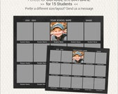 School Composite Template for 15, in 8x10 and 5x7, Daycare Template, Photoshop Template, Memory Mate (SC204) INSTANT Download