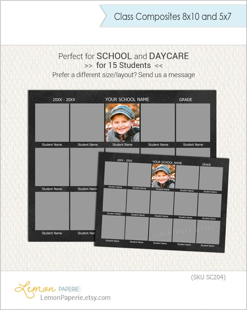 school composite template for 15 in 8x10 and 5x7 daycare. Black Bedroom Furniture Sets. Home Design Ideas
