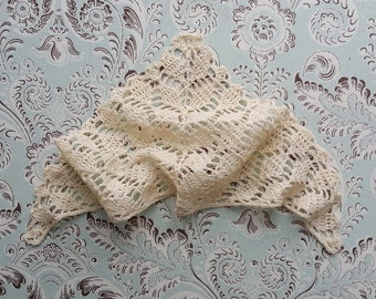 Bohemian Ivory Crochet Shawl for Blythe, Pullip, Dal
