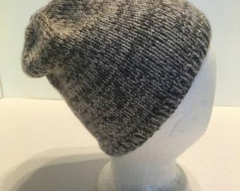 Handknitted Cap in Gray Tones