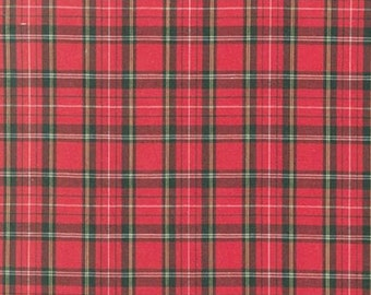 Red Window Pane Plaid from Robert Kaufman's Sevenberry Classic Plaid Collection