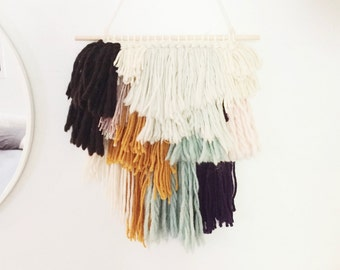 Woven Tapestry / Colorful Mess / Hand Woven Wall Hanging