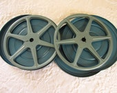 Vintage Metal Film Canisters /Super 8 Film Reels/Movie Decor/Retro/Industrial Storage Containers/Movie Memorabilia/Marked Fox Stanley Photo