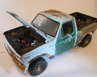 Classicwrecks Rusted Wreck Ford Scale Model Pickup Truck