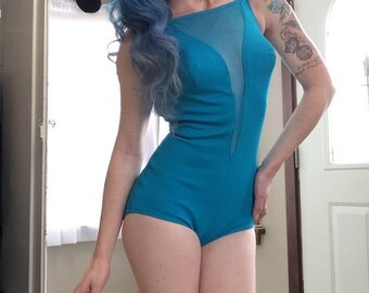 AQUA GODDESS! Costa Del Sol 1960s Pin up swim suit