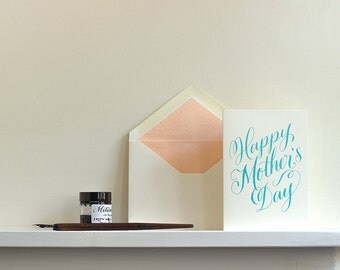 Happy Mother's Day Letterpress Greetings Card