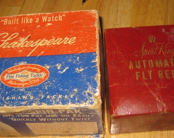 2 Empty Vintage Reel Boxs collectible ON SALE