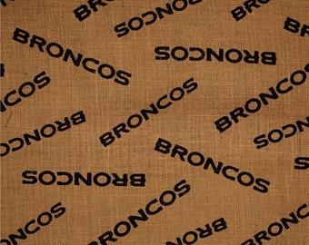 NFL Printed Burlap Denver Broncos by the yard