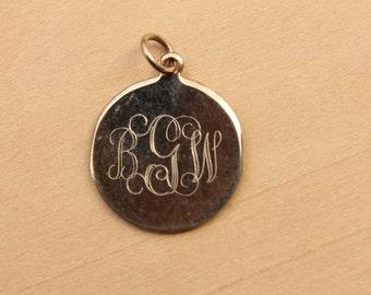 BGW Monogram Charm, Monogram Charm, Round Monogram Charm