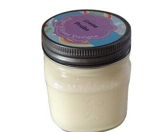 Creme Brulee - 8 oz mason jar soy candle