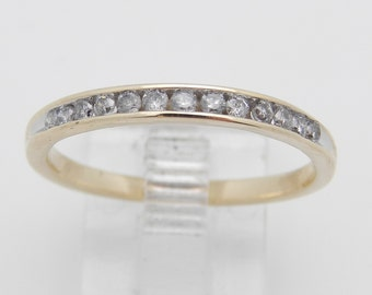 Diamond Wedding Ring Anniversary Band Yellow Gold Size 8.5