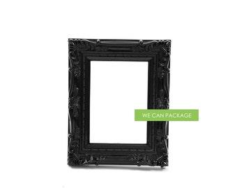 "Black Baroque Frame Vintage Shabby Chic 5"" x 7"""