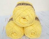Yellow Bamboo yarn,Each skein: 100 gr, knitting yarn