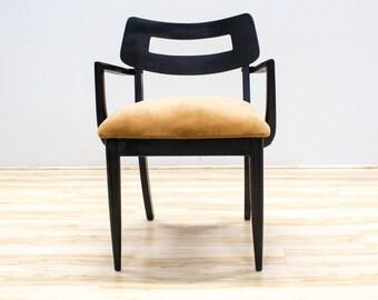 Black Bentwood Accent Chair, Atomic Mid century Design