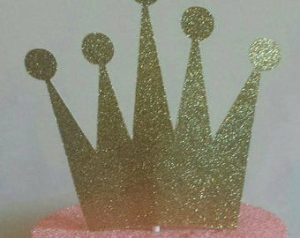 Princess Gold,Silver,Purple or Lavender Crown cake topper 1st birthday party or baby shower decor