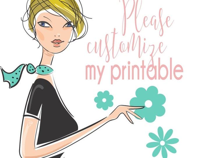 Add On | Customize My Printable