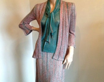 Mary Farrin 4 piece knit suit.