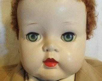 "Vintage Ideal MAGIC SKIN DOLL 32"" Boy Child Playpal Size Rare"