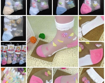 Summer kid's crystal socks girls short sock sweat children's socks