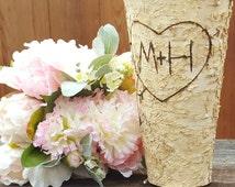Rustic Bridal Shower, Bridal Shower Gift, Wedding Decor, Birch Vase, Wedding Gift, Wedding, Wedding Vase, Rustic Bridal Shower Decorations