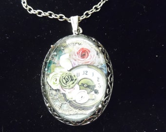 Past Time Memories Recessed Dome Necklace