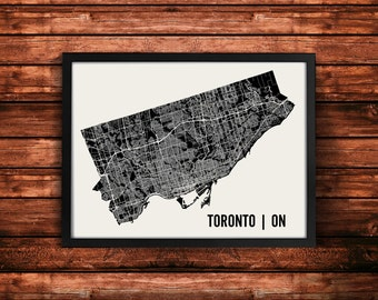 Toronto Map Art Print | Toronto Print | Toronto Art Print | Toronto Poster | Toronto Gift | Wall Art