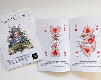 Artbook - Cryptic Cards Limited Edition Artwork Booklet - Playing Card Art of Cryptic Moths