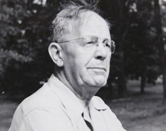 "Vintage Photo ""Grandpa's Portrait"" Vernacular Photography Man Outdoor Paper Ephemera Snapshot Old Photo Collectibles #68-45"