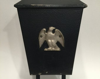 vintage wall mount mailbox with eagle - Wall Mount Mailboxes