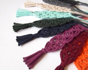 collier en macramé / choisissez votre couleur