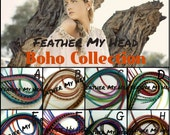 16 Pc DIY Kit Feather Hair Extensions - Premium Grade - Long 11-14 Inch (28-36cm) Pick Your Pack Boho Collection - Beads Puller Instructions