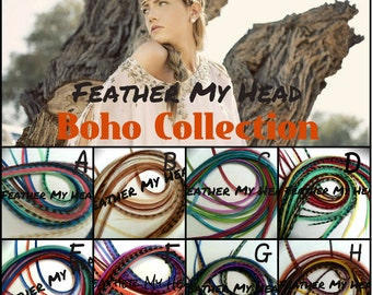 16 Pc DIY Kit Feather Hair Extensions - Premium Grade - Long 9-12 Inch (12-28cm) Pick Your Pack Boho Collection - Beads Puller Instructions